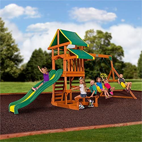 Backyard Discovery Tucson Cedar Wooden Swing Set product image