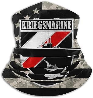 WW2 German U-Boat - Kriegsmarine Neck Warmer Neck Gaiter Face Mask Black
