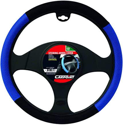Carpoint 2510112 X-treme Steering Wheel Cover Black and Grey Mesh