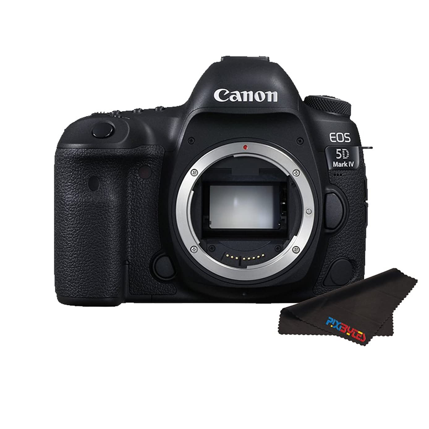 Canon EOS 5D Mark IV DSLR Camera (Body Only) + Pixibytes Exclusive Microfiber Cleaning Cloth (International Version)