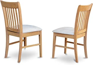 East West Furniture NFC-OAK-C Kitchen/Dining Chair Set...