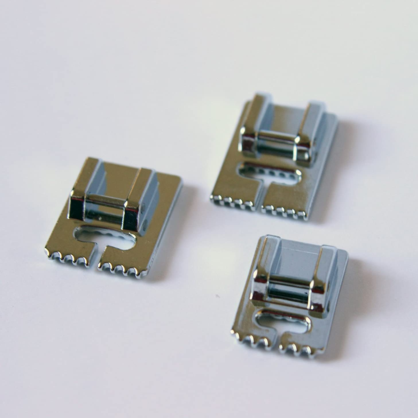 Pintuck Groove Presser Foot Set including a 9 Groove, 7 Groove, and 5 Groove - Fits All Low Shank Snap-On Brother, Babylock, Euro-Pro, Janome, Kenmore, White and more!