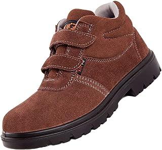 ZYFXZ Chaussures de sécurité for Hommes, Travail Chaussures étanches, Embout en Acier et Acier Midsole d'hiver Bottes de N...