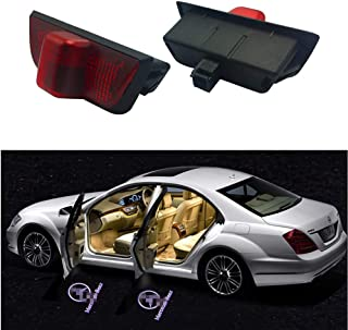 likecar 2pcs /última Car Styling LED Bienvenida Puerta Logo Laser tiro Luz