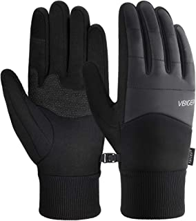 VBIGER Unisex Cycling Gloves Running Gloves Touch Screen Anti-slip Windproof Sports Winter Gloves Thermal Gloves with Cott...
