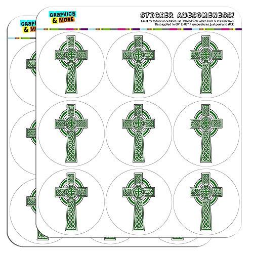 Celtic Christian Cross Irish Ireland 2' Planner Calendar Scrapbooking Crafting Stickers - Opaque