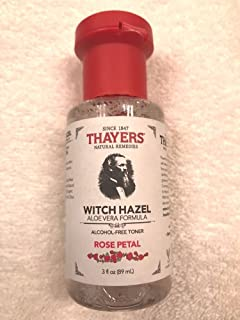 Thayers Rose Petal Witch Hazel with Aloe Vera Alcohol-free (3 Ounces) Travel Size
