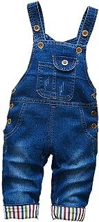 Baby Little Boys/Girls Denim Bib Overalls Toddler Suspender Jeans Pants