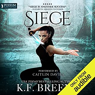 Siege     The Warrior Chronicles, Book 5              Written by:                                                                                                                                 K.F. Breene                               Narrated by:                                                                                                                                 Caitlin Davies                      Length: 8 hrs and 55 mins     2 ratings     Overall 5.0