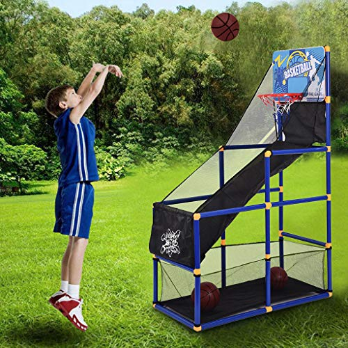 Printasaurus Indoor Basketball Arcade GameBasketball Shooting Machine for Kids Youth, Basketball Return and Guard Net, Portable Basketball Training Equipment for Home, Schools, Facilities
