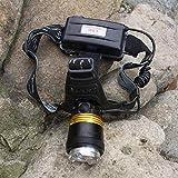 Heigmz qxd luces de bicicleta, faro LED Super brillante recargable auriculares T6 linterna hernia noche pesca batería de litio luz fuerte especial faro minero lámpara