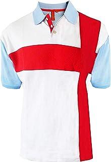 Hughes - Polo para adultos, diseño de la bandera de Inglaterra Foster - Rojo Medium/97 cm/ 99 cm pecho: Amazon.es: Ropa y accesorios