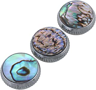 Mxfans 3pcs Abalone Shell Finger Key Buttons Colorful for Trumpet Replacement