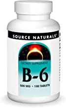 Source Naturals Vitamin B-6, 500 mg Immune System Support - 100 Tablets