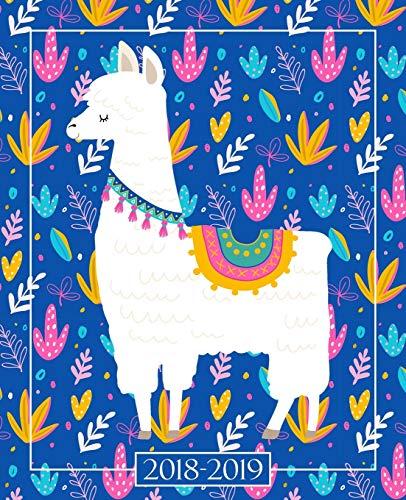 2018-2019 Studentenplaner | Schülerkalender | Studentenkalender: August 2018 – Juli 2019: 19 x 23 cm :Lama und Kaktus