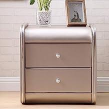 JJJJD Bedside Table Nightstand Locker Leather Bedside Table Bedside Table with Drawer Storage Cabinet, Multiple Colors Ava...