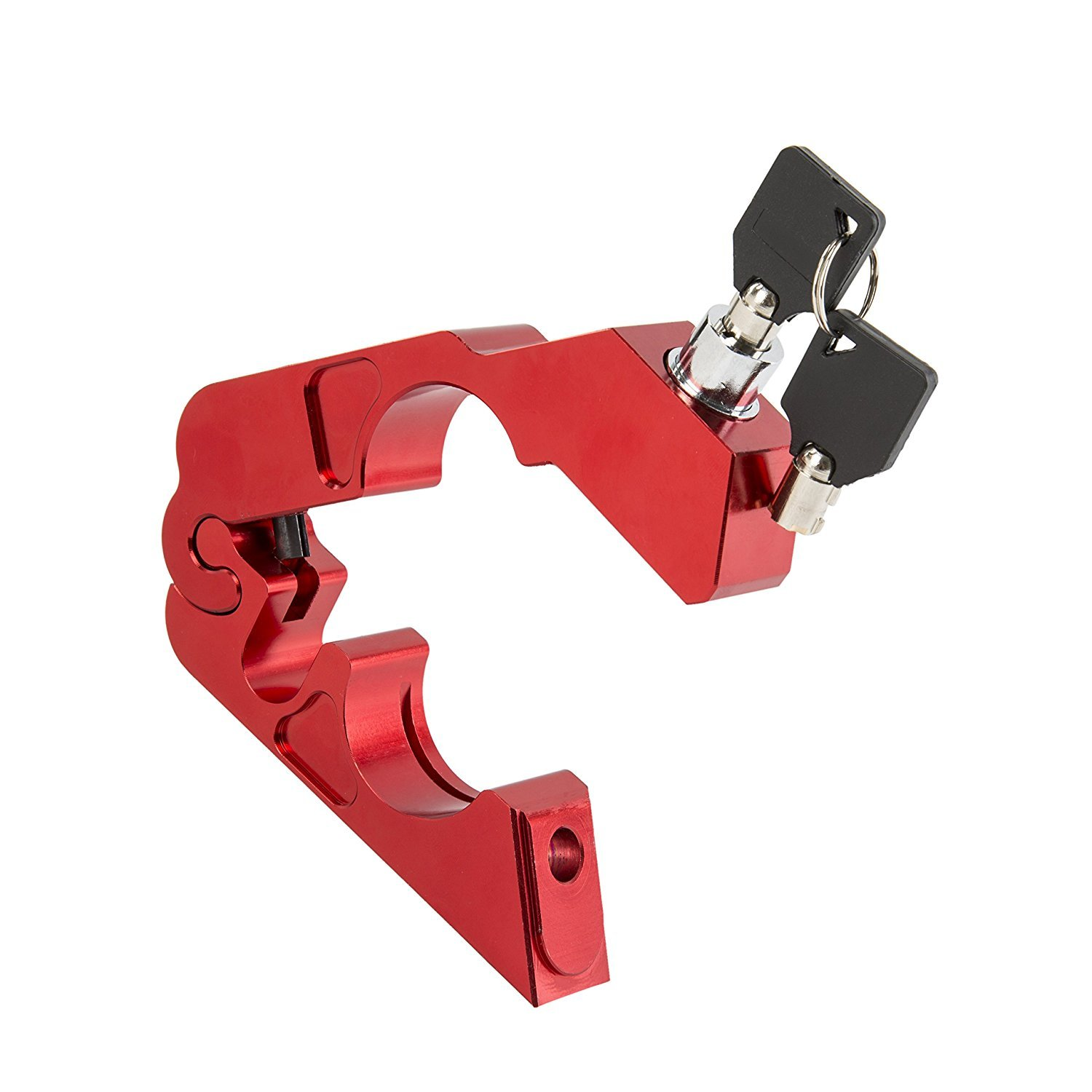 Moped or ATV Scooter Grip//Throttle // Brake//Handlebar Lock Universal Alloy CNC Motorcycle Handle Throttle Grip Security Lock with 2 Keys to Secure a Bike Motorcycle Lock