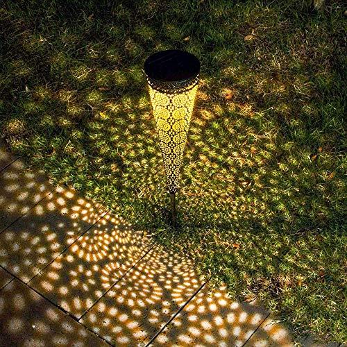 Lámpara De Patio Solar De Hierro Forjado Iluminación Decorativa Para Jardín Lámpara De Decoración Impermeable Para El Hogar, Glorieta, Patio, Césped, Adornos De Boda
