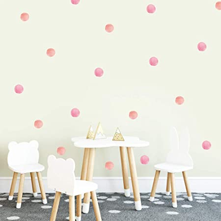 Easy to Install Removable Wall Stickers 70 White Vinyl Polka Dots Bedroom Wall Decals Stickers Teen Kids Baby Nursery Dorm Room