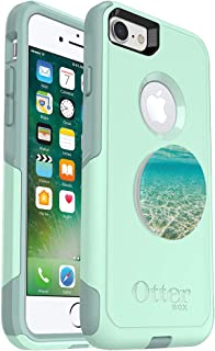Bundle: OtterBox Commuter Series Case for iPhone 8 & iPhone 7 (NOT Plus) – (Teal) + PopSockets PopGrip – (Blue Lagoon)
