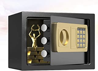 Rubik Safe Box Digital Lock with Key For Home Office Business RB-20E3 (20x31x20cm) Black
