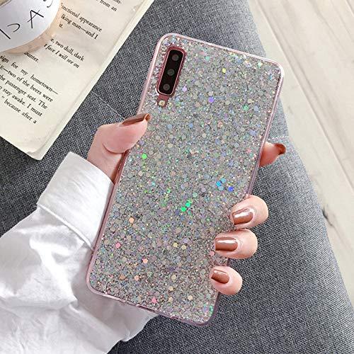 LIUYAWEI Estuche Caliente para Samsung Galaxy J3 J5 J7 Prime A3 A5 A7 2017 J4 J6 A6 A8 Plus A9 2018 Silicona Brillo Cristal Lentejuelas Cubierta del teléfono, SL, para A7 2018, A750