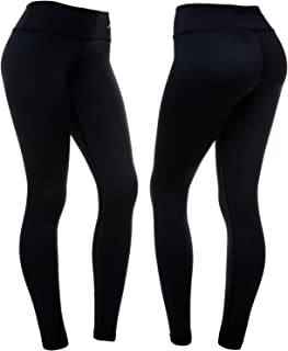 Women's Compression Pants (Black - M) Best Full Leggings Tights for Running Yoga Gym by CompressionZ