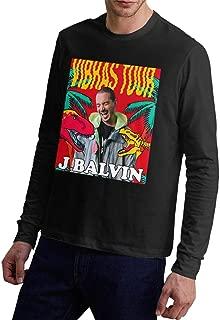 J Balvin Vibras Mens Long Sleeve Crew Neck T Shirt Shirts Casual Tops Tee