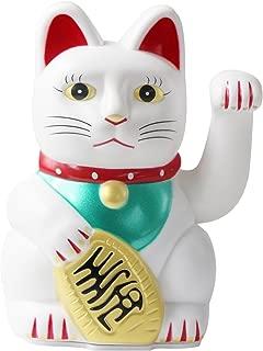 UOOOM 5 inch White Waving Lucky Cats Maneki Neko Feng Shui Fortune Money Cat (White)