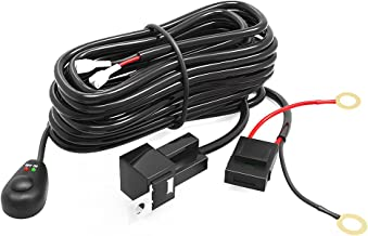 YITAMOTOR LED Light Bar Wiring Harness with Fuse Relay On&Off Switch for Light Bar Fog Lights Compatible for ATV, SUV, Jeep, Pickup, LED Light Up to 300W 12V 40A (9ft.)