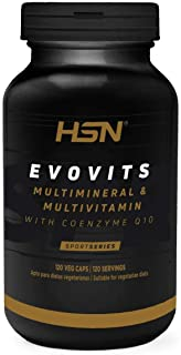 HSN Sports - Evovits Multivitaminas, Minerales - Complejo Multivitamínico para Mujer, Hombre, Vegetarianos y Deportistas - 120 Cápsulas