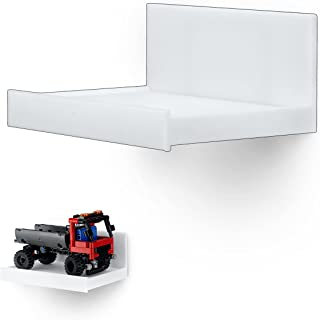 Universal Wide Floating Shelf, Screwless Mount Holder for Security Cameras, Baby Monitors, Speakers, Plants, Toys & More, ...