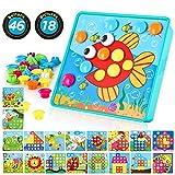TINOTEEN Uñas Setas Juguete Educativo Temprano para niños y bebés con 46 Botones y 18 imágenes