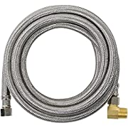Certified Appliance Accessories Dishwasher Hose with 90 Degree MIP Elbow, Water Supply Line, 8 Feet, PVC Core with Premium Braided Stainless Steel