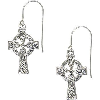 Detailed Cross Earrings