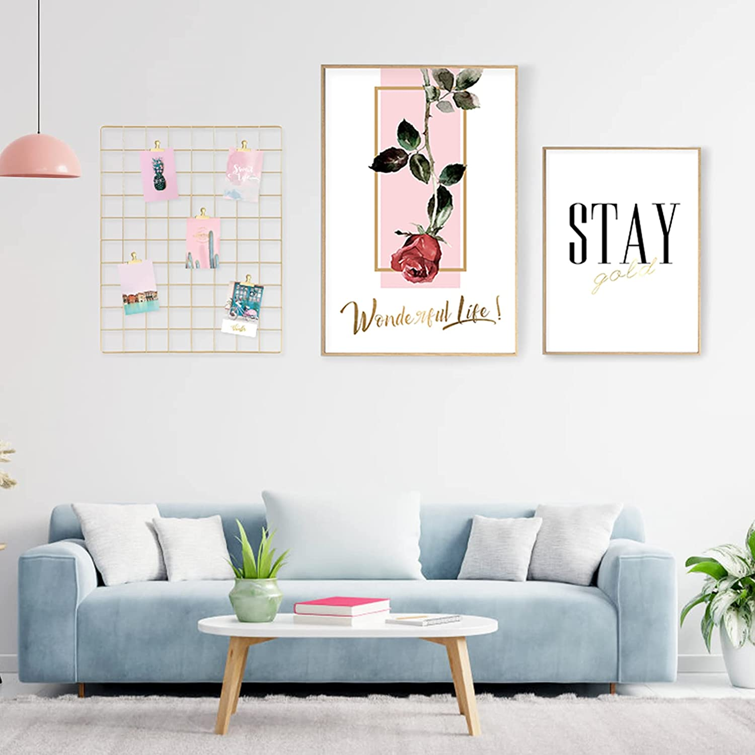 Deluxe Crelity Room Decor Wall Art 3 Piece Rose Canv Red Portland Mall 16x24IN