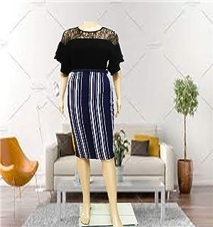 Emoltem Women's Knee Straight Length Skirt