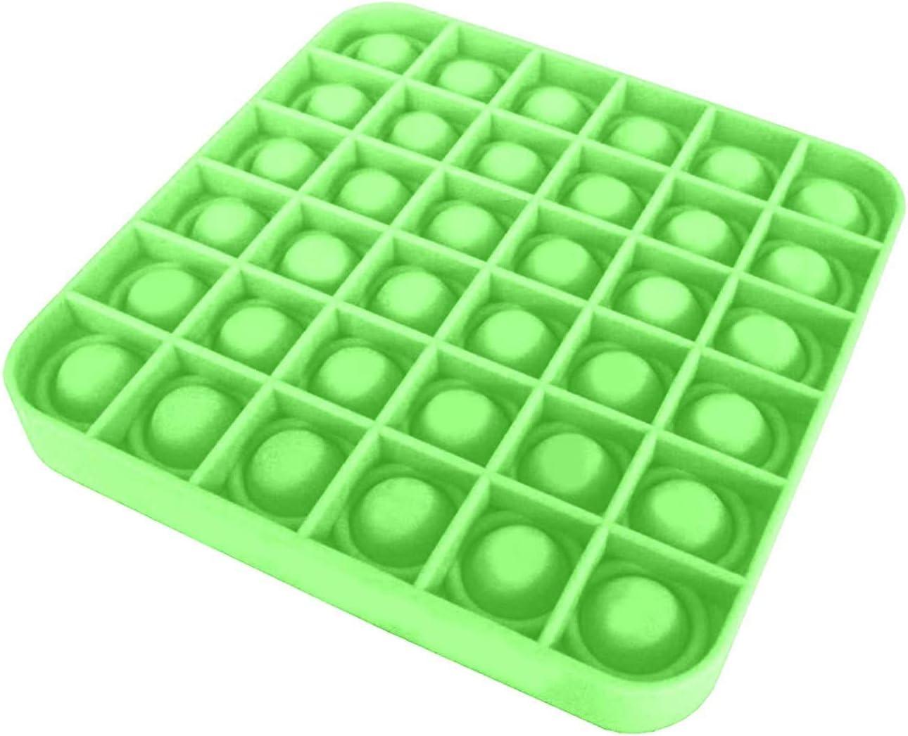 Yellow/&Purple Autism Stress Reliever Extrusion Bubble Fidget PAGOW 2pcs Push Bubble Pop Poke Pop Sensory Fidget