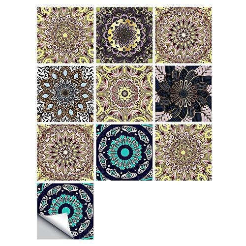 Adhesivos Para Azulejos Para Baño, Pintura Para Azulejos Para Cocinas, Azulejos Adhesivos Para Piso, Azulejos Para Pegar En La Pared, Adhesivos Para Azulejos De Mosaico Impermeables 10x10