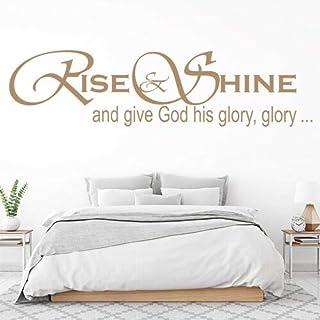 Kssim Give God His Glory Glory Hymn Song Wall Stickers@10B