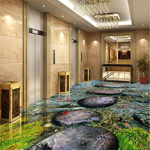 Aangepaste 3D Wall Paper Stone Stream River Keuken Badkamer 3D Vloertegels Tegel Schilderen Behang Versieren 300cm(L) x210cm(W)