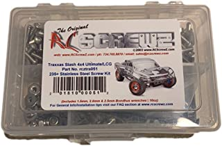 RCScrewZ Traxxas Slash 4x4 Ultimate LCG Stainless Steel Screw Kit - (235+ pieces) - tra051 - screws nuts washers parts and hardware