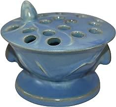 Roseville Pottery Teasel Blue Flower Frog 36