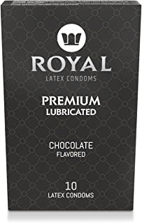 Condoms, Chocolate Flavored, Ultra Thin, Premium Lubricated, All Natural, High Quality Non-Toxic, Gluten Free, Nitrosamine Free, Vegan, Organic Latex, 10 Pack by Royal