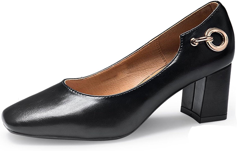 JIANXIN Frauen Frauen Frühling Und Sommer Vintage Und Flache Schuhe, Bequeme Arbeitsschuhe Und Damenschuhe. (Farbe   Schwarz, Größe   38)  billig und Mode