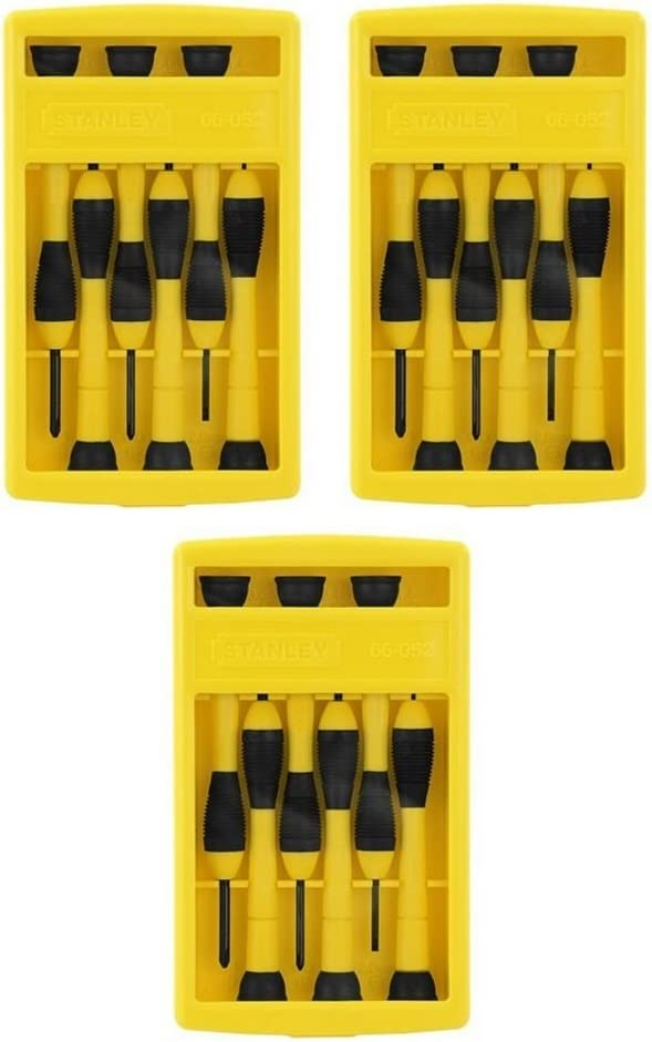 Stanley 66-052 6 Piece Precision Screwdriver Set (3 Pack)