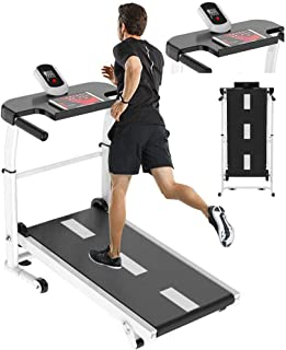 Mini Treadmill Folding Mechanical Treadmill Exercise Fitness Equipment Silent Walking Jogging Running Machine with LED Display and Mobile Phone Holder Perfect for Home Use US Fast Shippment