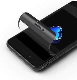 RhinoShield 3D 耐衝撃画面保護フィルム [iPhone 7 / 8 / SE (第二世代)] | 保護されていない画面の3倍の衝撃に耐える - 3Dエッジで隅まで保護 - 傷にも強い - ブラック