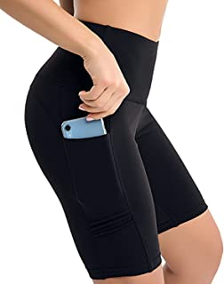 RUNNING GIRL 8'' Biker Shorts for Women with Pockets, High Waist Workout Yoga Running Athletic Shorts