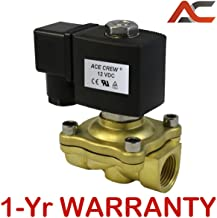 VITON 1/2 inch 12V DC VDC Brass Solenoid Valve NPT Gas Water Air Normally Closed NC